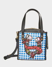 TWO IN ONE HORSESHOE SMALL TOTE BLACK-WHITE - HANDBAGS - Betsey Johnson