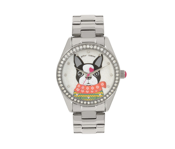UGLY SWEATER CONTEST FRENCHY WATCH MULTI - JEWELRY - Betsey Johnson