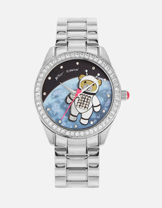 UP IN SPACE BEAR WATCH SILVER