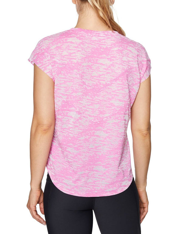 V-STITCHED CROP WEDGE TEE PINK - APPAREL - Betsey Johnson