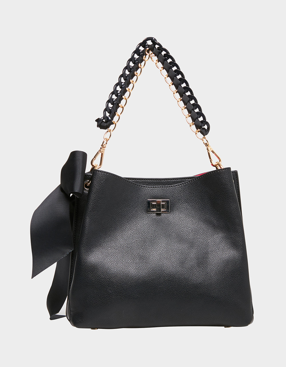 VANITY BUCKET BAG BLACK - HANDBAGS - Betsey Johnson