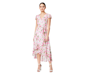 VINTAGE BETSEYS ROSE WRAP DRESS FLORAL