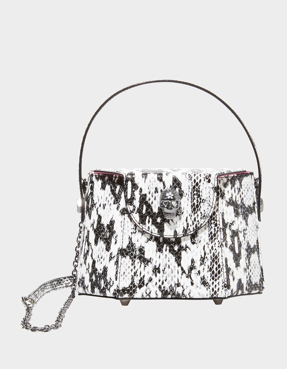 VINTAGE VIBES BOX BAG BLACK-WHITE - HANDBAGS - Betsey Johnson