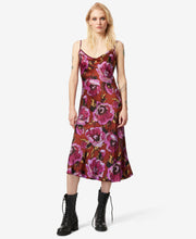 BJ VINTAGE BURNOUT FLORAL MIDI DRESS MULTI - VINTAGE - Betsey Johnson