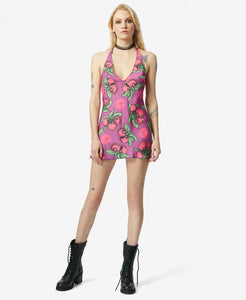 BJ VINTAGE CHERRY BOMB MINI DRESS MULTI