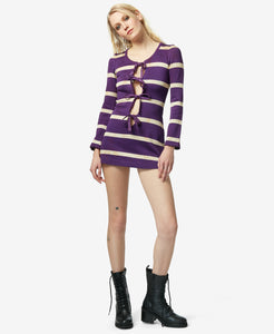 BJ VINTAGE MICRO MINI DRESS PURPLE
