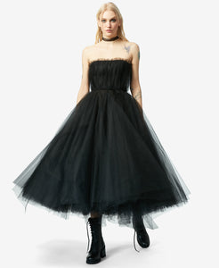 BJ VINTAGE BLACK SWAN DRESS BLACK
