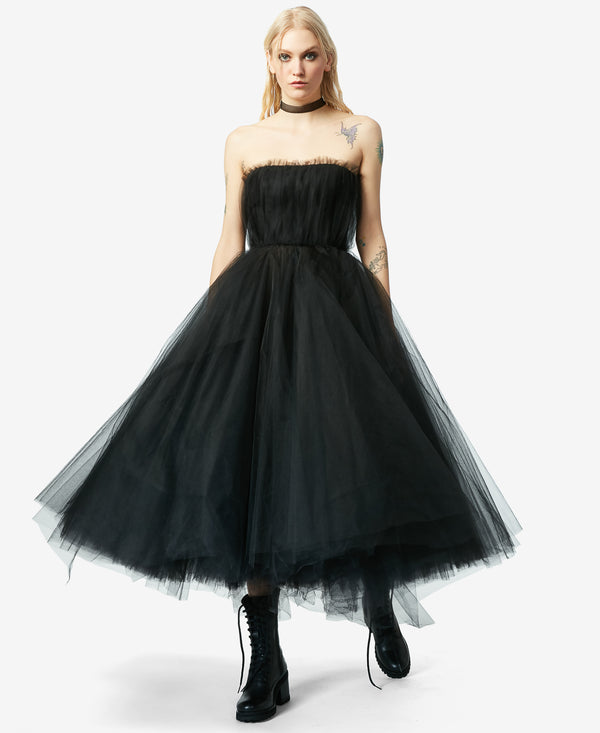 BJ VINTAGE BLACK SWAN DRESS BLACK - VINTAGE - Betsey Johnson
