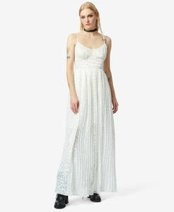BJ VINTAGE WHITE OUT MAXI DRESS IVORY