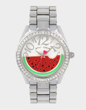 WAITING FOR WATERMELON WATCH SILVER - JEWELRY - Betsey Johnson
