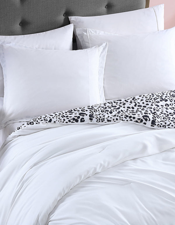WATER LEOPARD TWIN DUVET COVER SET NATURAL - BEDDING - Betsey Johnson