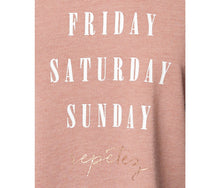 WEEKEND REPETEZ BOXY TEE BLUSH - APPAREL - Betsey Johnson