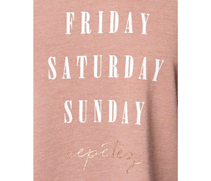 WEEKEND REPETEZ BOXY TEE BLUSH