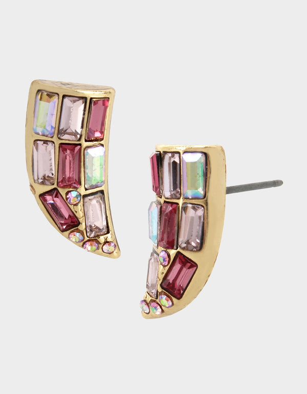 WELCOME TO THE JUNGLE BEAK STUDS PINK - JEWELRY - Betsey Johnson