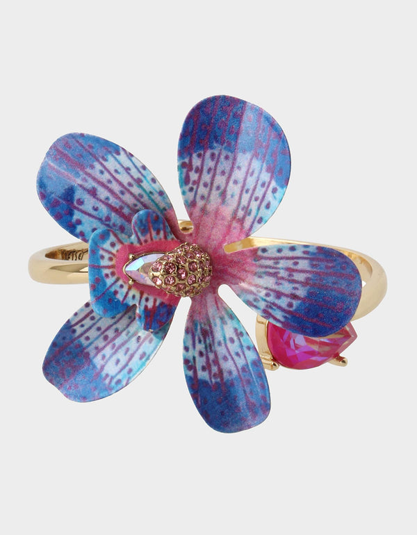 WELCOME TO THE JUNGLE ORCHID BANGLE BLUE - JEWELRY - Betsey Johnson