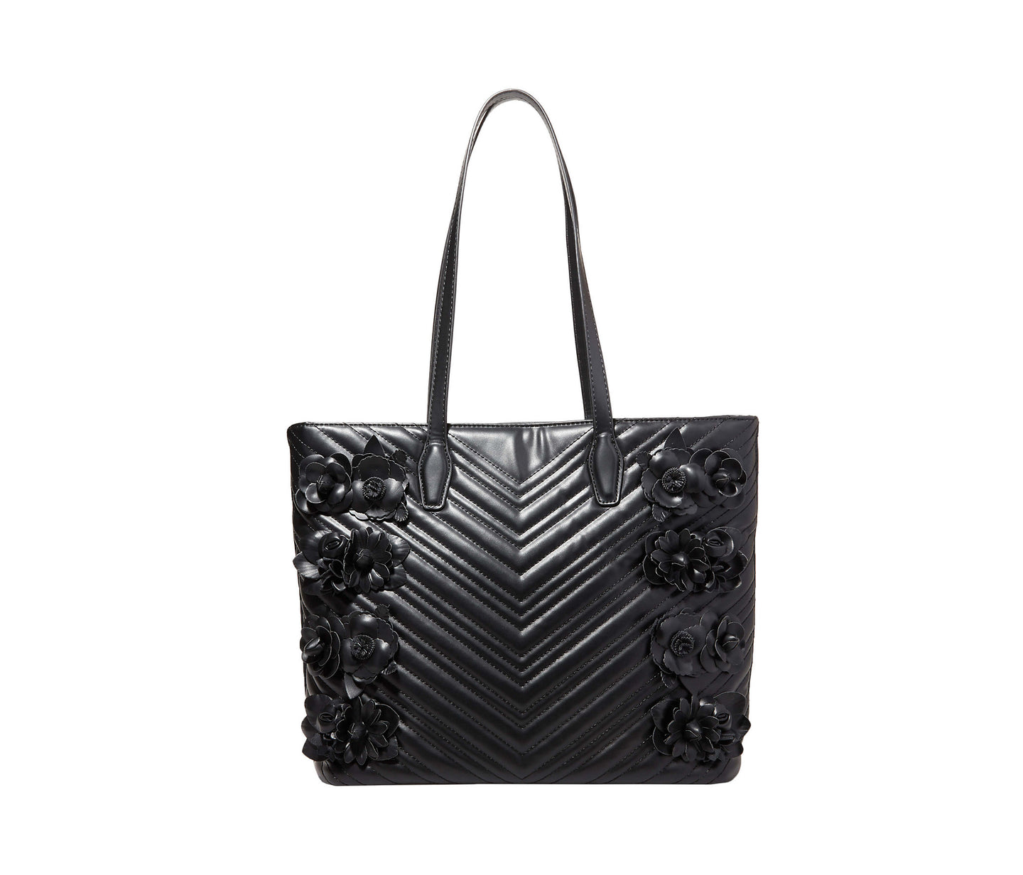 WHAT IN CARNATION TOTE BLACK - HANDBAGS - Betsey Johnson