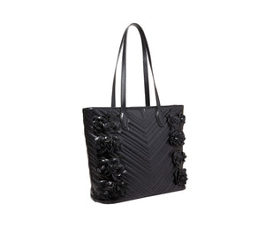 WHAT IN CARNATION TOTE BLACK