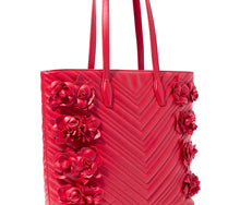 WHAT IN CARNATION TOTE RED - HANDBAGS - Betsey Johnson