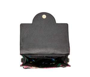 WHO IS THIS PHONE BAG BLACK MULTI