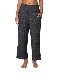 WIDE LEG COMBO STRIPE PANTS CHARCOAL