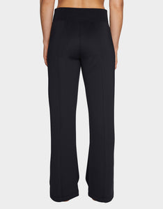 WIDE LEG SNAP TRACK PANT BLACK