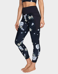 WILD FLOWER LEGGING BLACK-WHITE