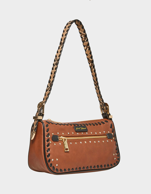 WILD WEST POCHETTE BROWN - HANDBAGS - Betsey Johnson