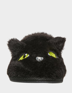 PURRFECTLY COZY KITTY SLIPPERS BLACK
