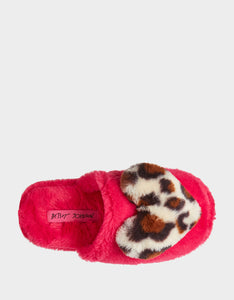 COZY AT HEART PINK-LEOPARD SLIPPERS PINK MULTI