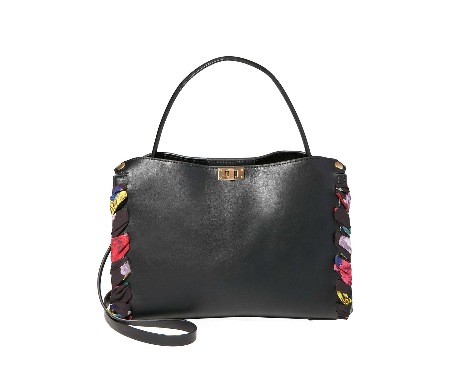 WRAPPED AROUND YOUR FINGER SATCHEL BLACK - HANDBAGS - Betsey Johnson
