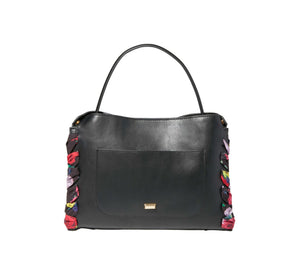 WRAPPED AROUND YOUR FINGER SATCHEL BLACK