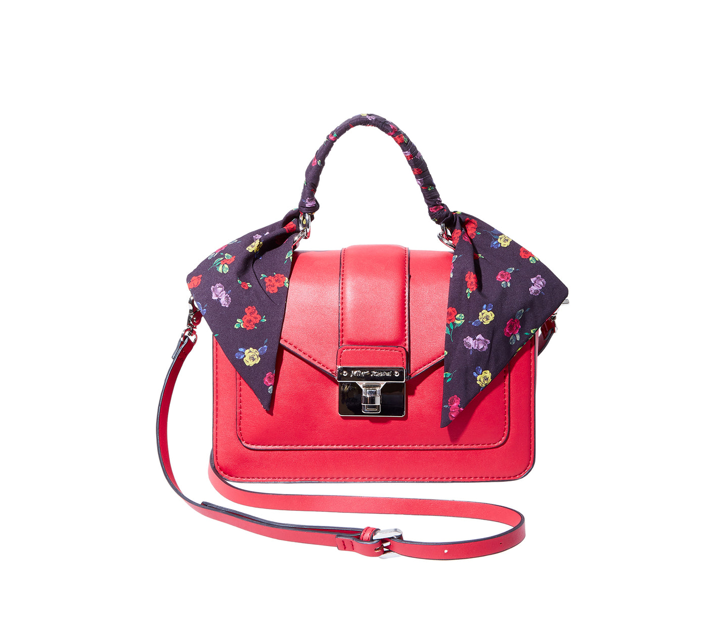 WRAPPED UP IN YOU TOP HANDLE BAG RED - HANDBAGS - Betsey Johnson