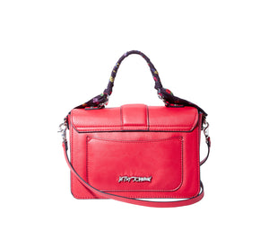 WRAPPED UP IN YOU TOP HANDLE BAG RED