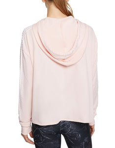 ZIGZAG STRIPE CUTOFF JACKET PEACH