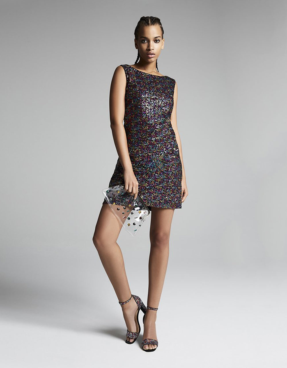 CONFETTI SEQUIN DRESS RAINBOW MULTI - APPAREL - Betsey Johnson