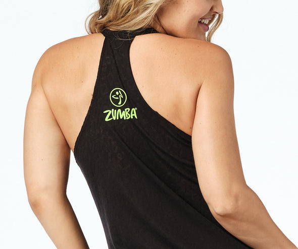 Zumba Wild High Neck Tank - Bold Black Z1T02204