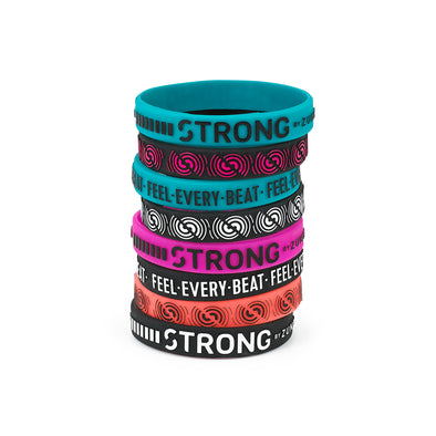 Strong by Zumba Squat Sync Sweat Rubber Bracelets 8pk - A0A00920