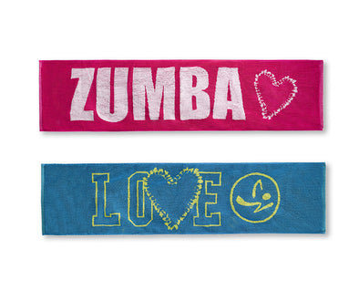Zumba Love Fitness Towels 2pk - A0A00974