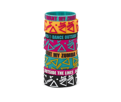Zumba Dance Outside Rubber Bracelets 8pk - A0A00999