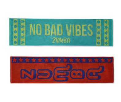 Zumba No Bad Vibes Fitness Towels 2pk - A0A01012
