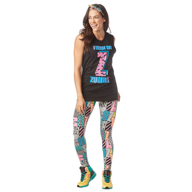 Zumba Unisex I Want My Zumba Muscle Tank - Choose Color/size A0A01032