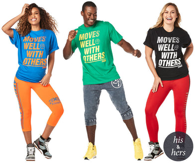 Zumba Unisex Moves Well With Others Tees - Choose Color A0A01117