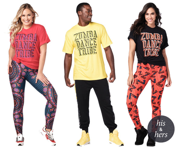 Zumba Unisex Dance Tribe Tees - Choose Color A0A01125