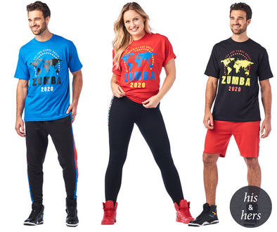 Zumba Unisex Moves 2020 Tees - Choose Color A0A01189