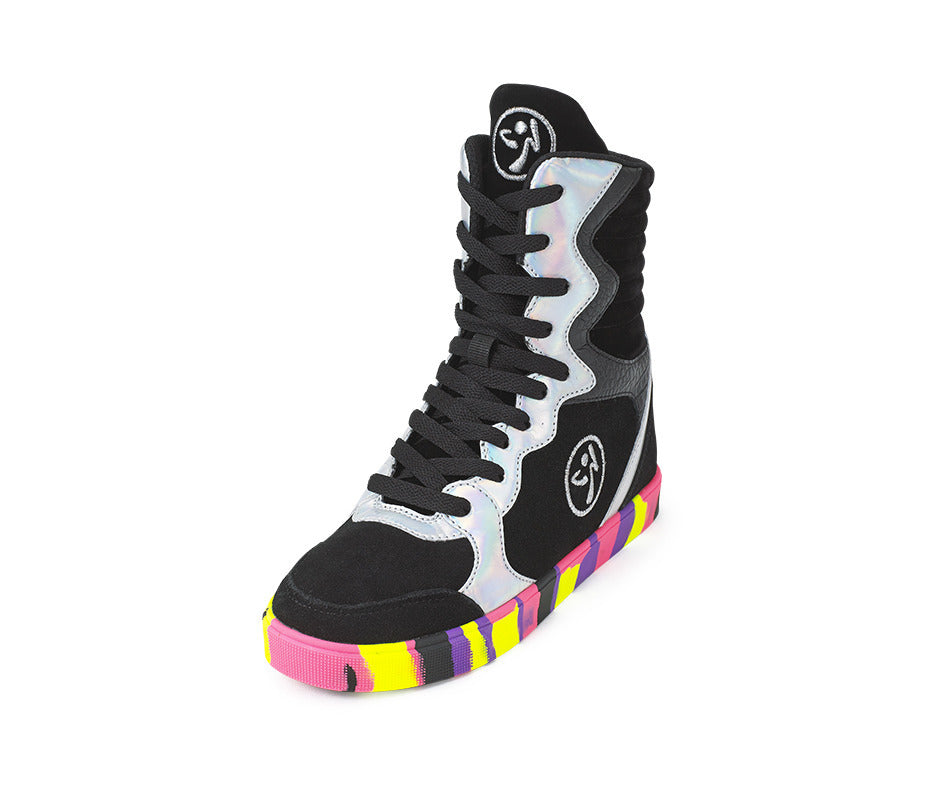 Zumba Street Elevate High Top Shoes - Black/Silver A1F00094