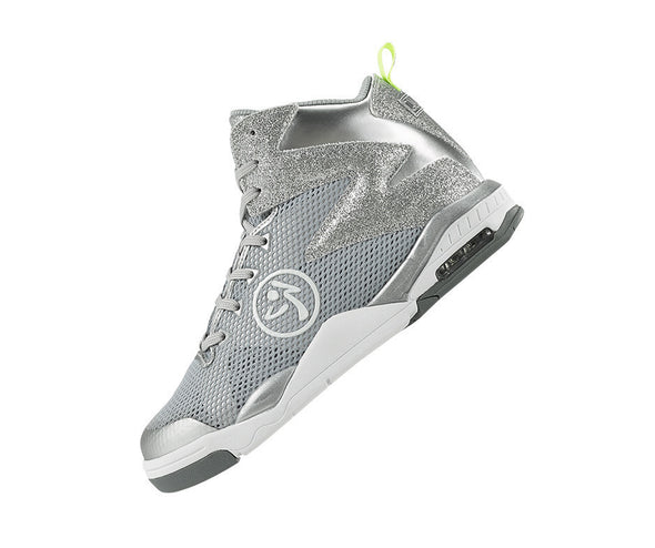 Zumba Air Shimmer Glitter Shoes - Silver A1F00136