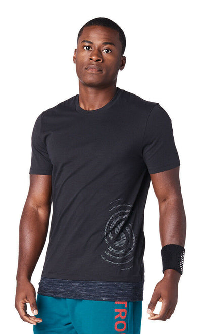 STRONG by Zumba Squat Sync Sweat Men's Top - Bold Black Z2T00349
