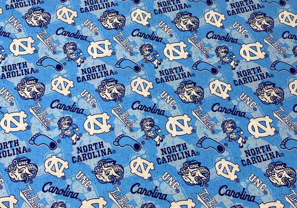 Carolina Tar Heels Face Mask Pleated with Nose Wire Filter Pocket US made