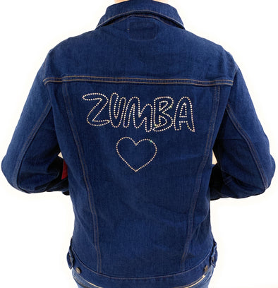 Zumba Denim Jacket with Swarovski Crystals - Convention Exclusive