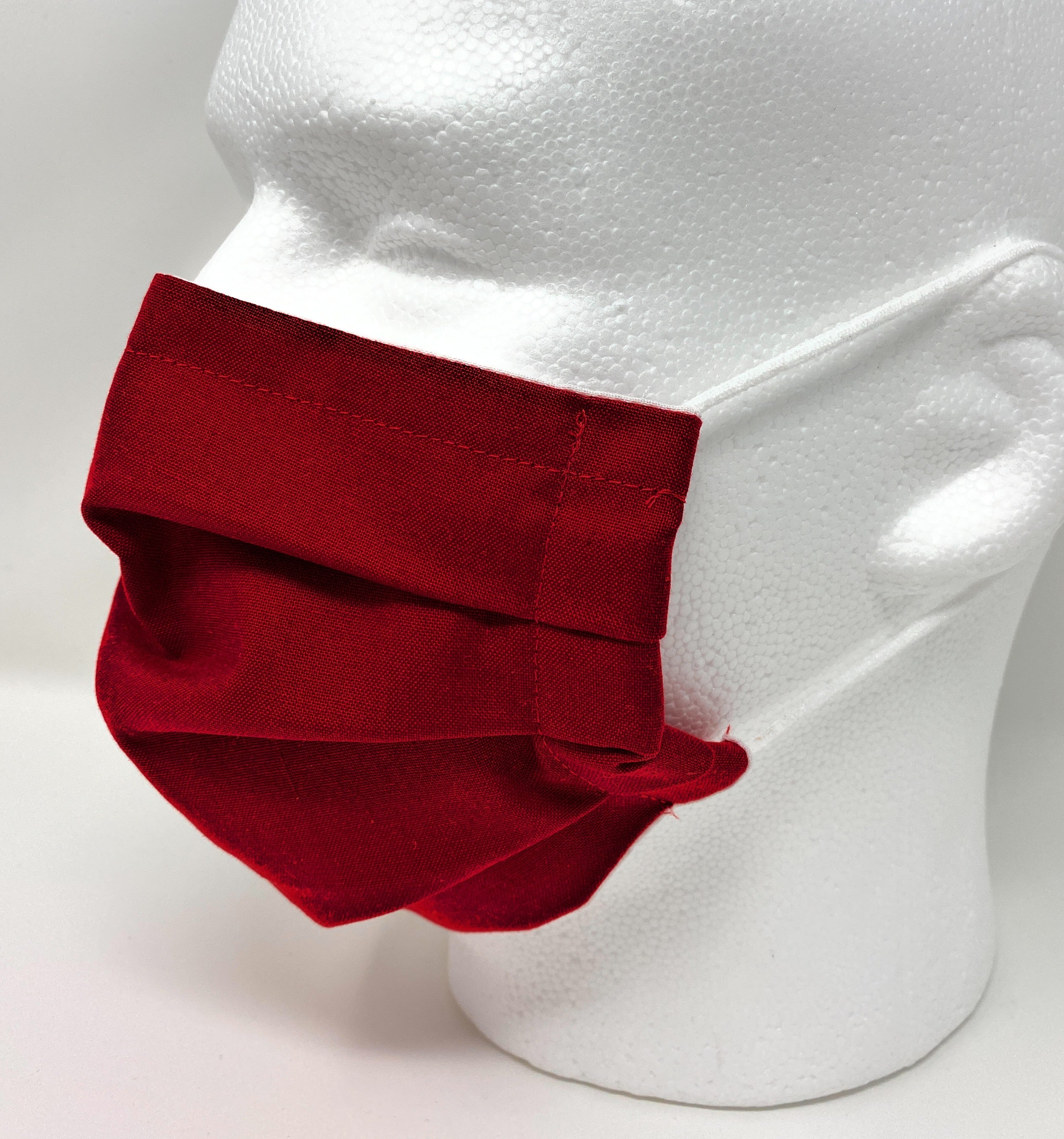 Face Mask - Pleated with Nose Wire Filter Pocket US made - Filters Included